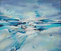 Gabriele-Schmalfeldt-Landschaft-Winter-Abstraktes-Gegenwartskunst-Gegenwartskunst
