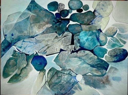 Gabriele Schmalfeldt, o.T. 02/21, Abstraktes, Natur: Wasser, Abstrakte Kunst