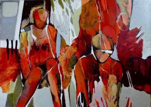 Gabriele Schmalfeldt, o.T. 07/21, Abstraktes, Situationen, Abstrakte Kunst, Expressionismus