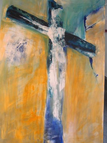 Andrea Huber, Kreuz und Auferstehung, Glauben, Religion, Neo-Expressionismus, Expressionismus