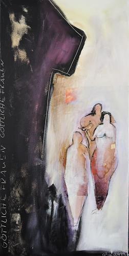 Andrea Huber, Göttliche Frauen, Menschen: Frau, Mythologie, Neo-Expressionismus, Expressionismus