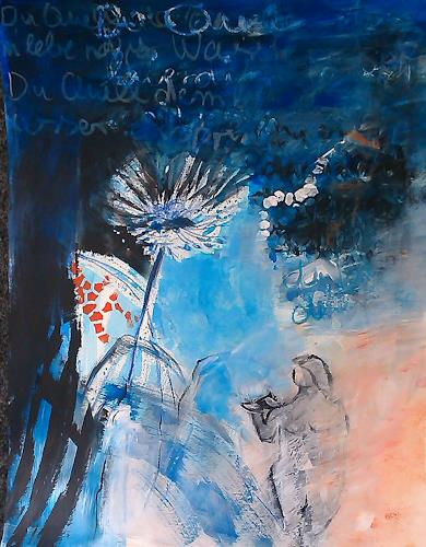 Andrea Huber, Serie Marias blauer Mantel 6, Diverse Pflanzen, Natur: Diverse, Neo-Expressionismus, Expressionismus