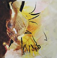 Andrea-Huber-Diverse-Pflanzen-Abstraktes-Gegenwartskunst-Neo-Expressionismus