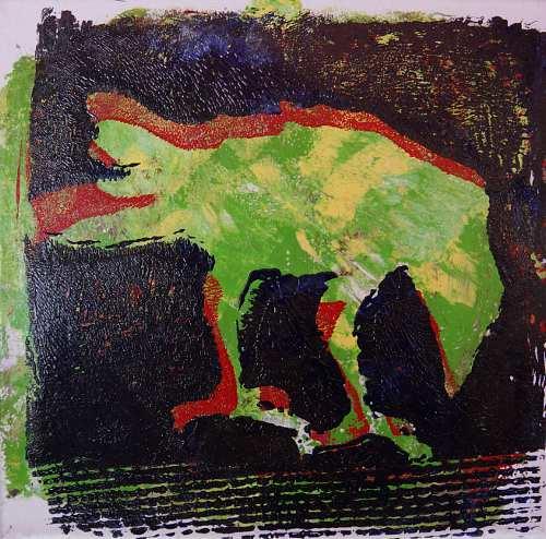 Keike Pelikan, Futtersuche, Tiere: Luft, Tiere: Land, Gegenwartskunst, Abstrakter Expressionismus