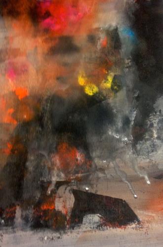 Anita Karolina Martinoli, Thunderstorm, Abstraktes, Gegenwartskunst, Abstrakter Expressionismus