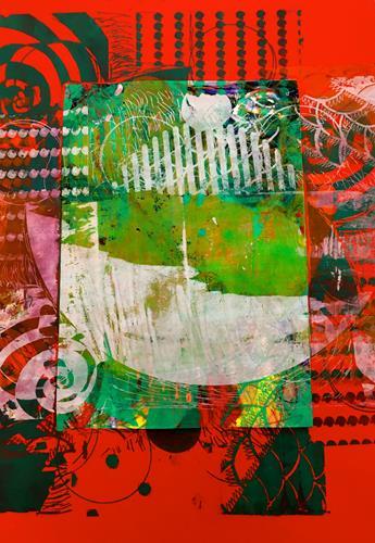 Anita Karolina Martinoli, Corona Experiment 1, Abstraktes, Abstrakte Kunst