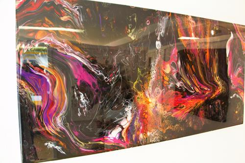 Giovanni De Luca, O/T, Abstraktes, Action Painting