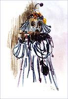 P. Tauss, Maske in Blau