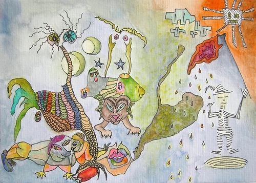 Gwendolyn Kaase, O.T., Poesie, Skurril, Art Brut