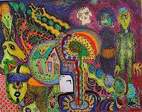 Gwendolyn-Kaase-Menschen-Gruppe-Diverse-Tiere-Moderne-Abstrakte-Kunst-Art-Brut