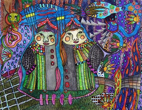 Gwendolyn Kaase, Die russischen Zwillinge, Menschen: Paare, Märchen, Art Brut