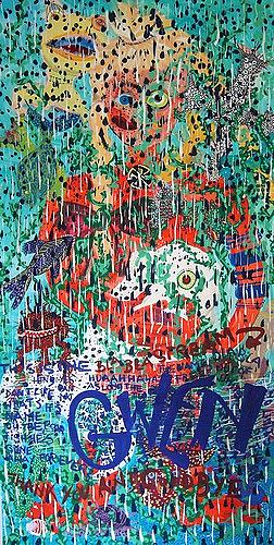 Gwendolyn Kaase, BlaBlaStream, Tiere: Wasser, Menschen: Frau, Art Brut