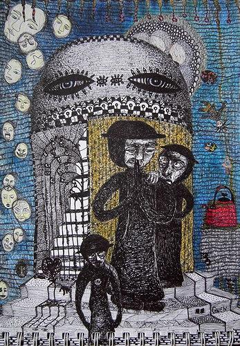 Gwendolyn Kaase, O.T., Menschen: Gruppe, Skurril, Art Brut