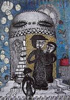 Gwendolyn-Kaase-Menschen-Gruppe-Skurril-Moderne-Abstrakte-Kunst-Art-Brut