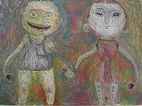 Gwendolyn-Kaase-Menschen-Paare-Gefuehle-Liebe-Moderne-Abstrakte-Kunst-Art-Brut