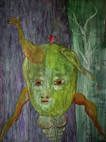Gwendolyn Kaase, O.T., Skurril, Menschen: Gesichter, Art Brut