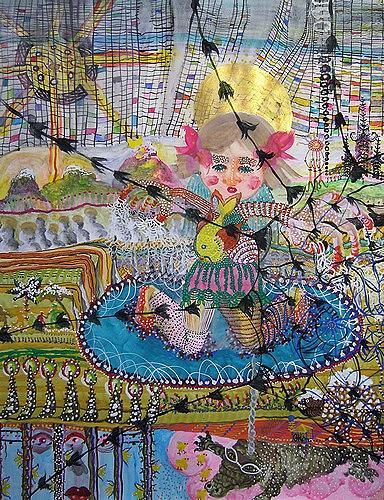 Gwendolyn Kaase, O.T., Tiere: Wasser, Menschen: Frau, Art Brut