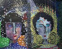 Gwendolyn-Kaase-Menschen-Gesichter-Menschen-Frau-Moderne-Abstrakte-Kunst-Art-Brut