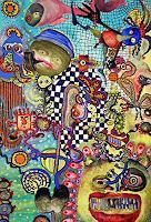 Gwendolyn-Kaase-Menschen-Gesichter-Skurril-Moderne-Abstrakte-Kunst-Art-Brut