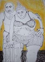 Gwendolyn-Kaase-Menschen-Paare-Gefuehle-Geborgenheit-Moderne-Abstrakte-Kunst-Art-Brut