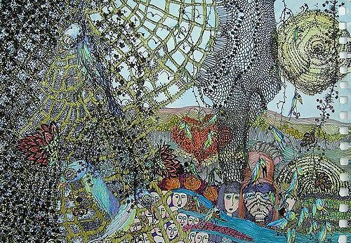 Gwendolyn Kaase, MIMI, Gefühle: Trauer, Tiere: Luft, Art Brut, Expressionismus