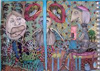 Gwendolyn-Kaase-Menschen-Familie-Skurril-Moderne-Abstrakte-Kunst-Art-Brut