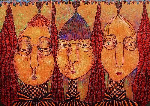 Gwendolyn Kaase, O.T., Menschen: Gesichter, Menschen: Gruppe, Art Brut