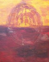 Renate-Horn-Romantik-Sonnenuntergang-Natur-Wasser-Gegenwartskunst-Gegenwartskunst