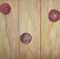Renate-Horn-Pflanzen-Blumen-Dekoratives-Gegenwartskunst-Gegenwartskunst