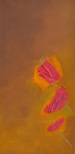 Renate Horn, Zu dritt...!, Dekoratives, Pflanzen: Blumen, Gegenwartskunst, Expressionismus