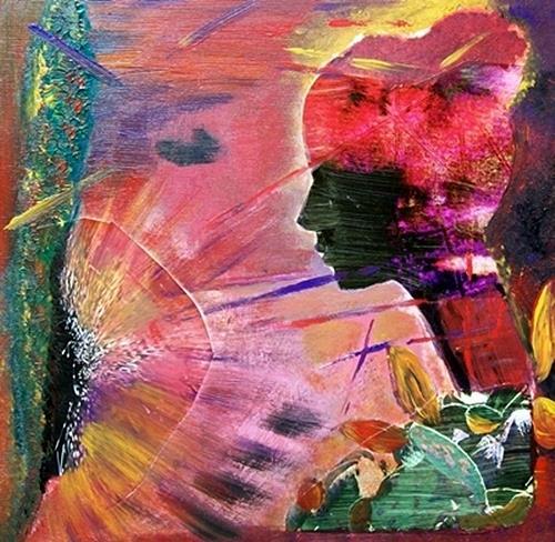 Renate Horn, Frau in Pink, Menschen: Frau, Fantasie, Gegenwartskunst, Abstrakter Expressionismus