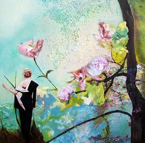 Renate Horn, Promenade des fleurs, Diverse Romantik, Stilleben, Gegenwartskunst, Expressionismus