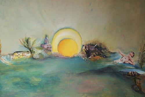 Renate Horn, Urlaubsfeeling, Landschaft: Sommer, Gefühle: Freude, Aktionskunst, Abstrakter Expressionismus