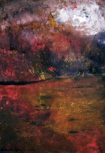 Renate Horn, Heissa, hussa, der Herbst ist da...!, Bewegung, Landschaft: Herbst, Gegenwartskunst, Expressionismus