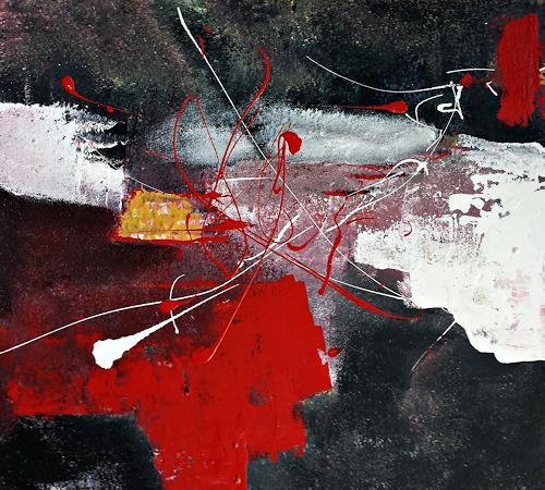Renate Horn, Miteinander, Situationen, Fantasie, Gegenwartskunst, Abstrakter Expressionismus
