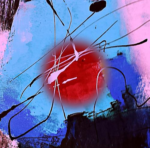 Renate Horn, Unbeschwert...!, Gefühle: Freude, Spiel, Gegenwartskunst, Abstrakter Expressionismus