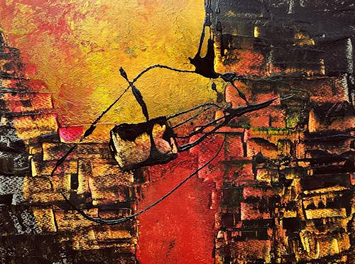 Renate Horn, Verbinden, Abstraktes, Diverse Landschaften, Gegenwartskunst, Expressionismus