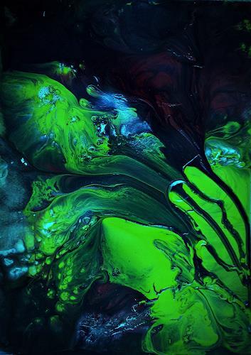 Renate Horn, Mittendrin..., Fantasie, Bewegung, Gegenwartskunst, Abstrakter Expressionismus