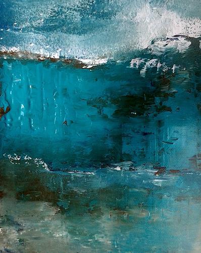 Renate Horn, O/T, Landschaft: See/Meer, Abstraktes, Gegenwartskunst
