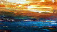 Renate-Horn-Landschaft-See-Meer-Romantik-Sonnenuntergang-Gegenwartskunst-Gegenwartskunst
