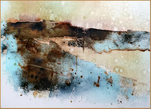 Renate Horn, An den Klippen, Landschaft: See/Meer, Natur: Gestein, Gegenwartskunst