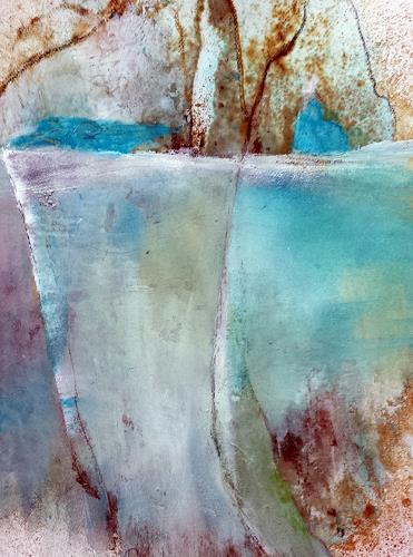 Renate Horn, Cliffs and more, Landschaft: See/Meer, Bewegung, Gegenwartskunst, Expressionismus