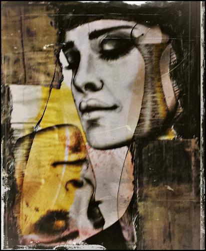 Renate Horn, Das zweite Gesicht, Menschen: Gesichter, Menschen: Porträt, Gegenwartskunst, Abstrakter Expressionismus