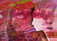Renate-Horn-Menschen-Gesichter-Dekoratives-Gegenwartskunst-Gegenwartskunst