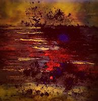Renate-Horn-Landschaft-See-Meer-Landschaft-Herbst-Moderne-Expressionismus