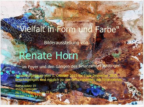 Renate Horn, Einladung zur Ausstellung!, Diverses, Diverses, Gegenwartskunst