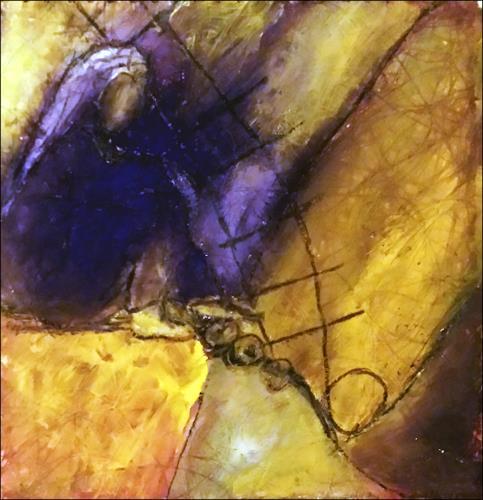 Renate Horn, Rast, Gefühle: Geborgenheit, Natur: Erde, Gegenwartskunst, Expressionismus