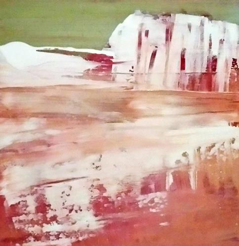 Renate Horn, Winter, Landschaft: Winter, Diverse Wohnen, Gegenwartskunst, Abstrakter Expressionismus