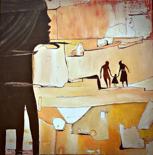 Renate Horn, Beobachtend, Diverse Menschen, Diverse Landschaften, Gegenwartskunst