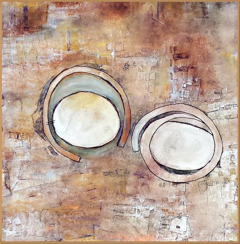 Renate Horn, Ruhepole, Abstraktes, Fantasie, Gegenwartskunst
